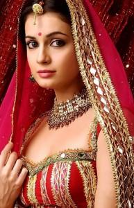 Diya Mirza in Wedding Saree