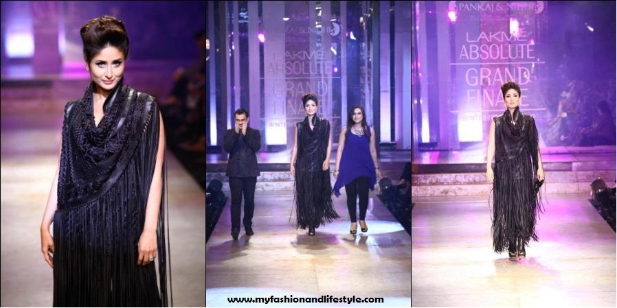 Kareena_Kapoor_for_Pankaj & Nidhi_at_Lakme_Fashion_Week