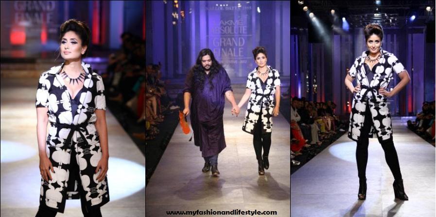 Kareena_Kappor_for_Kallol Datta_at_Lakme_Fashion_Week