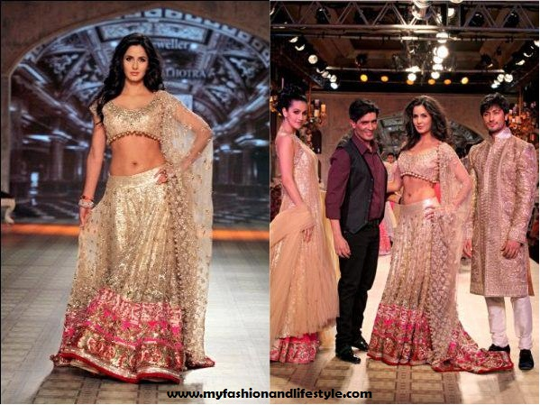 Katrina_Kaif_for Manish_Malhotra_at_Delhi_Couture_Week