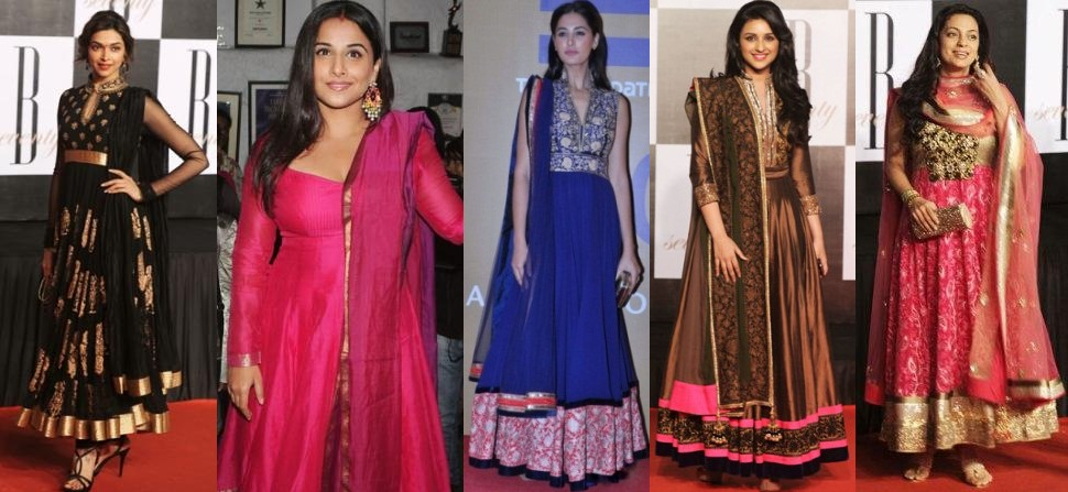 Bollywood Actress in Anarkali Salwar Kameez