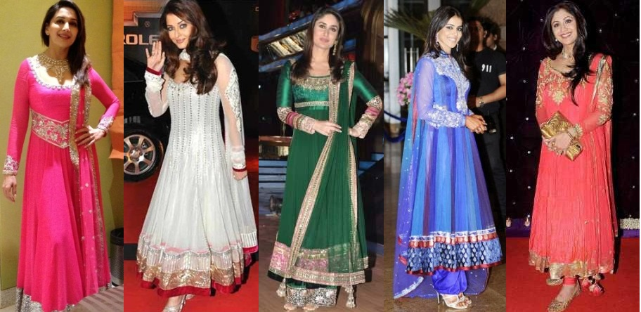 Bollywood Actress in Anarkali Suits