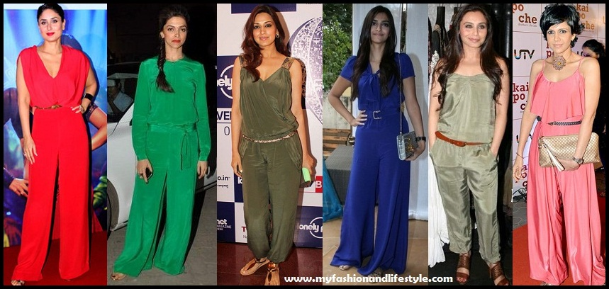 Bollywood Actresses in Jumpsuits