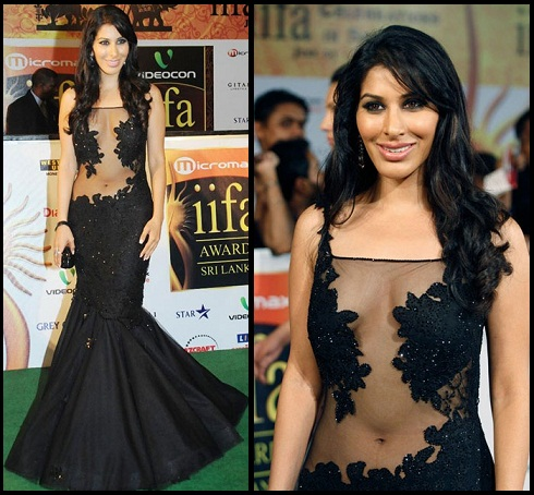 Bollywood actress in sheer dress