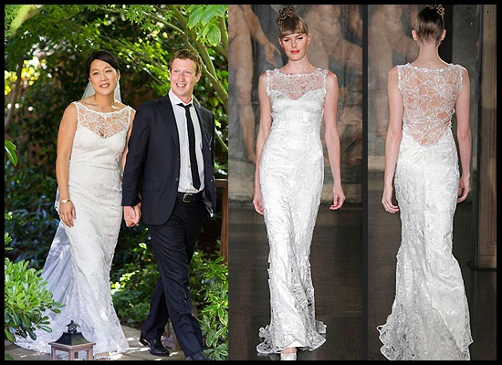 style details mark zuckerbergs wifes wedding dress