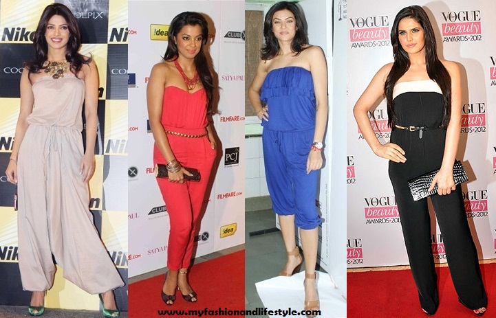 Bollywood Actress in Strapless Jumpsuit